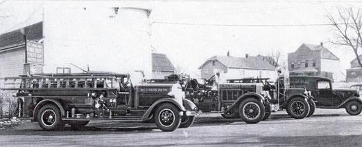 Firetrucksinfrontofthefirebarn