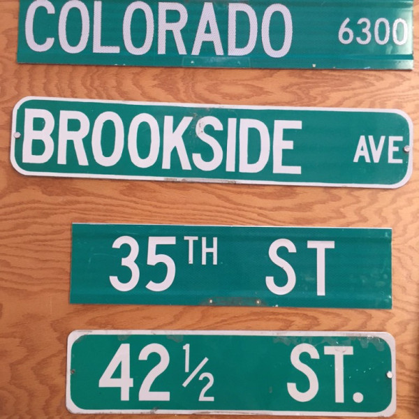 Purchase an authentic St. Louis Park street sign!